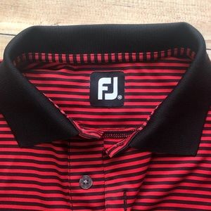Footjoy men's medium golf polo shirt sleeve shirt